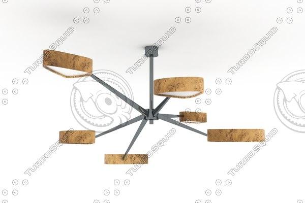 3d model achille salvagni chandelier