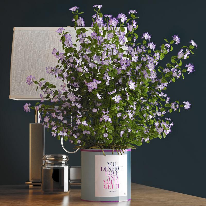 3d decorative vase 15 flowers