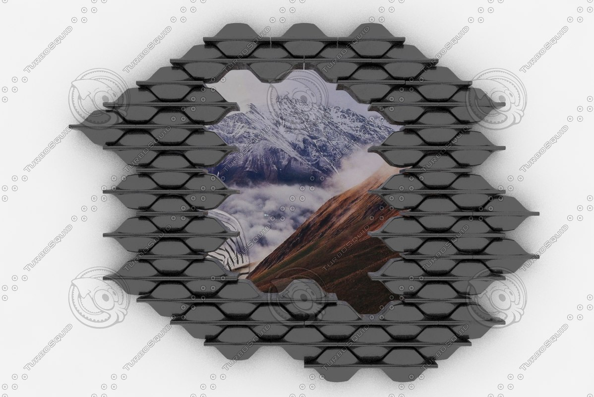 adrien melo black tiled 3d model