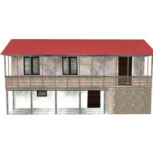 old georgian house 3d model