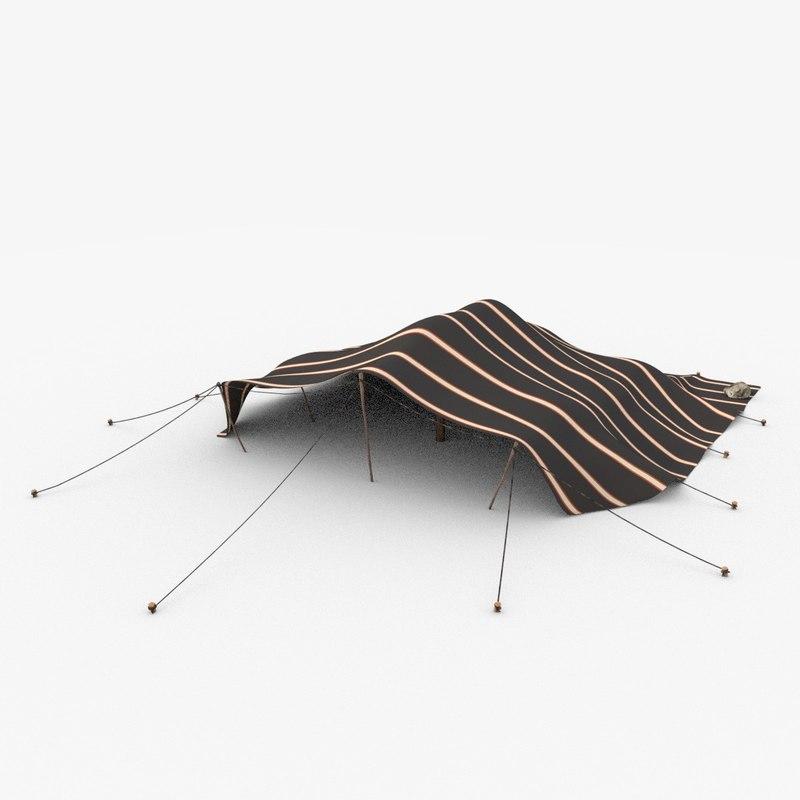 3d berber tent model