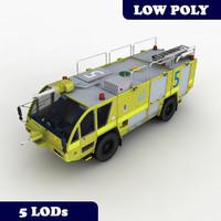 3d rosenbauer 4x4 truck lod model