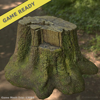 Tree Trunk 01 (Game Ready)