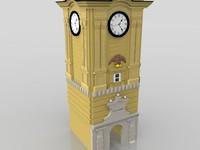 3d rijeka ancient tower engraving model