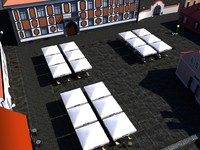 3d baroque town square engraving