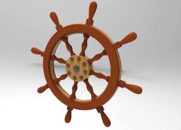 ship shipwheel obj free