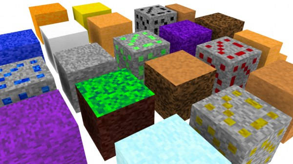 free 3ds model simple minecraft pack landscape