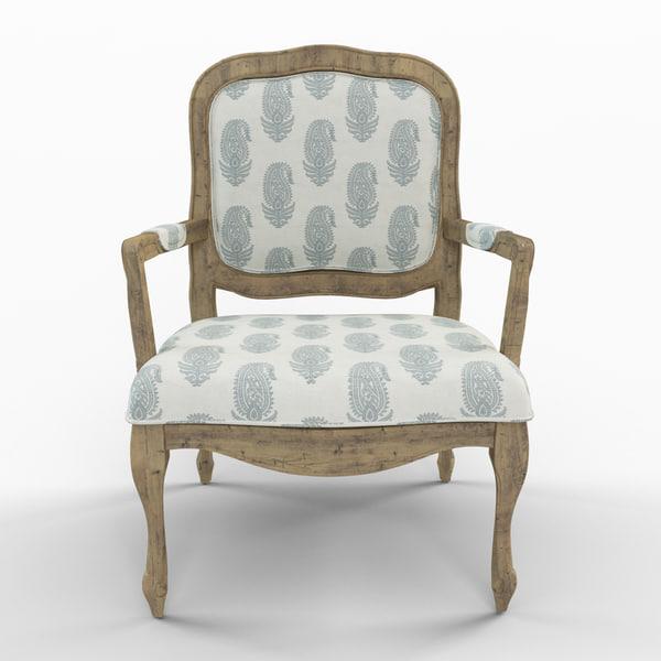 3d max stratton arm chair