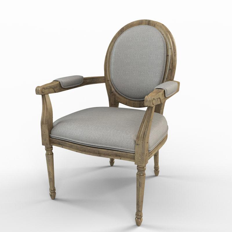 todd arm chair 3d model