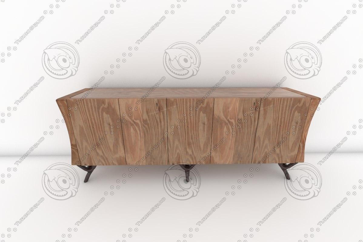 paul mathieu havana console 3d model