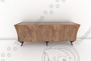 paul mathieu havana console 3d model