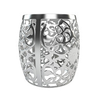 3d model stool fretwork aluminum