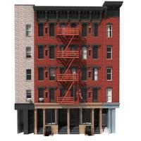 building new york facade 3d model