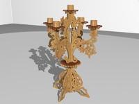 3d candlestick candleholder sconce model