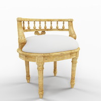 3d margaret vanity chair