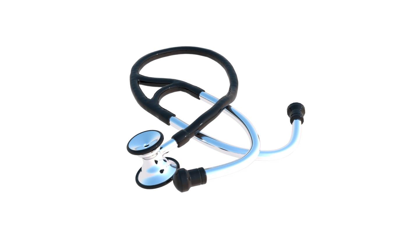 stethoscope steth scope 3d max