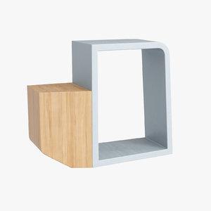 3d model gi-gi shelf 111 numero