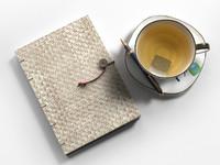 diary pen tea 3d model