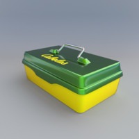 3d model metal lunch box