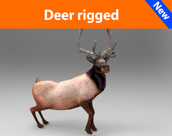 deer rigged 3d 3ds