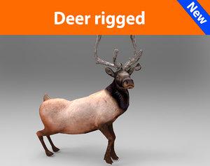 deer rigged 3d 3ds