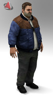 man male human 3d 3ds