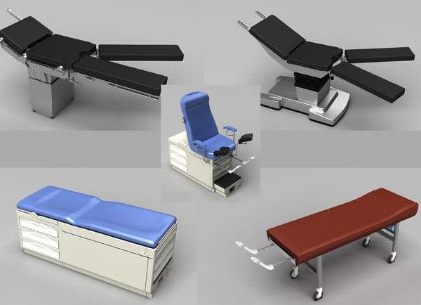 medical tables 3d model