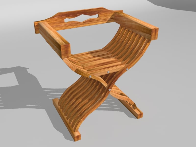 3d model chair stool