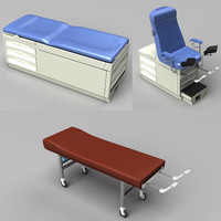 examination tables 3d max