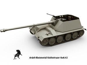 3d waffentrager ardelt kwk-43 model