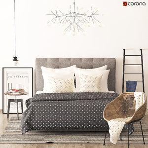 3d model richmond bed heatherly design