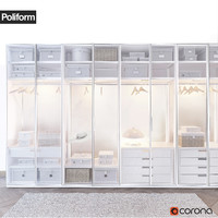 poliform ego wardrobe 3d model