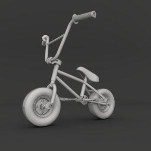 3d model of mini bmx