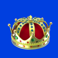 3d model crown render animation