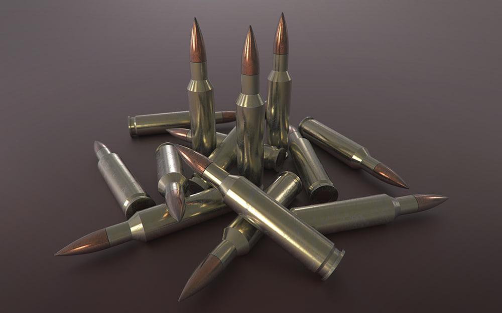 50 caliber bullet 3d obj
