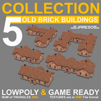 3d model low-polygonal 5 industrial brick
