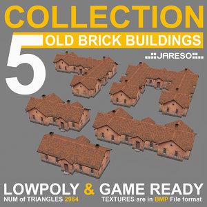 3d model low-polygonal 5 industrial brick