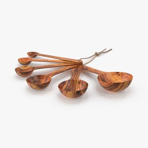 wooden-measuring-spoons 3d max