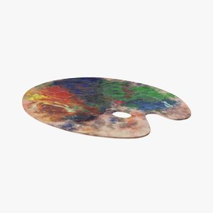 3d artist-palette-01 model