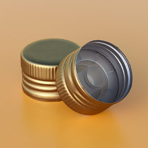 closeup metal 3d model