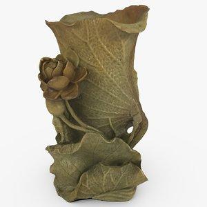3d model ornate chinese flower vase