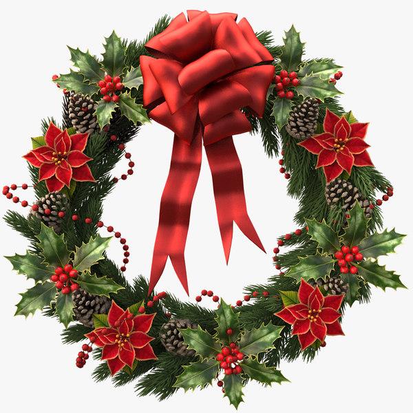 3d christmas wreath v3