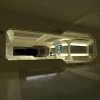 sci-fi interior constructor 3d max