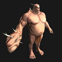 3d model of fantasy monster