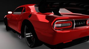 tuning car 3d model