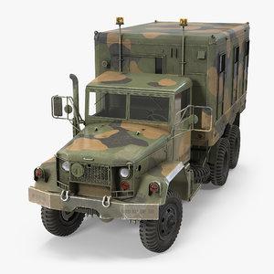 truck m109 shop van 3d model
