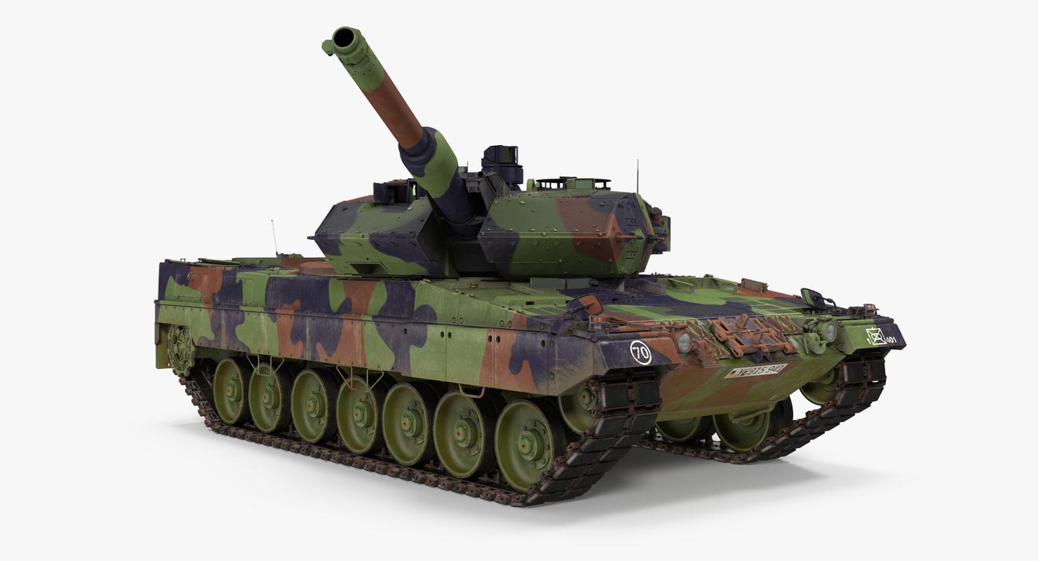 3d model german battle tank leopard
