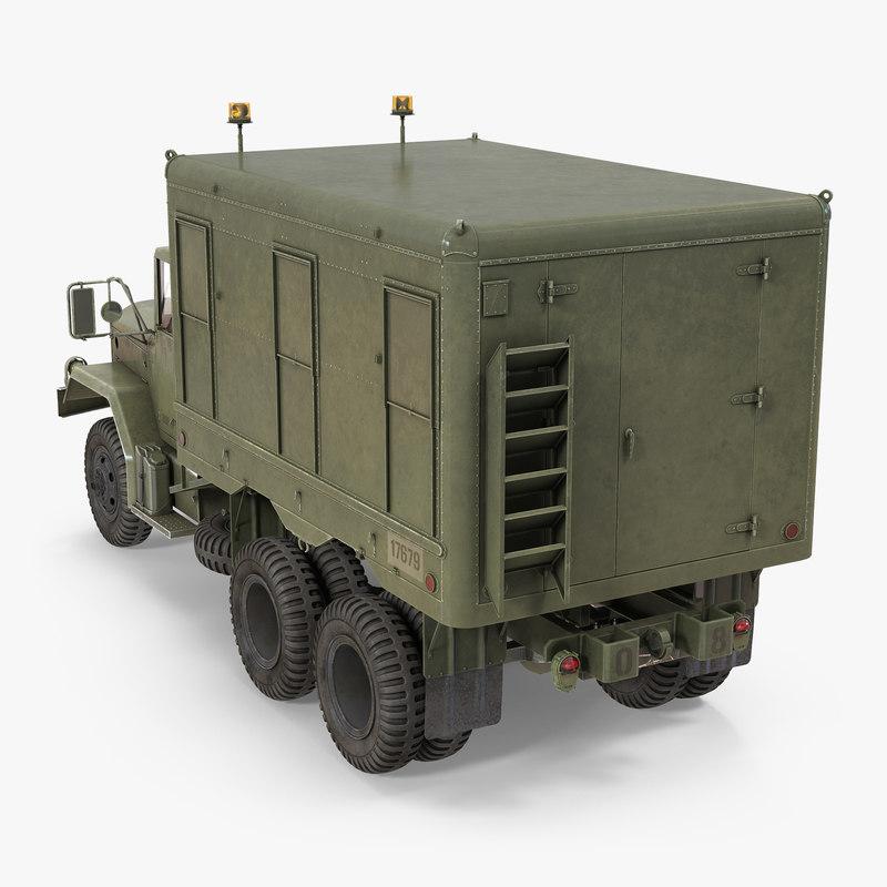 m109 shop van 3d model