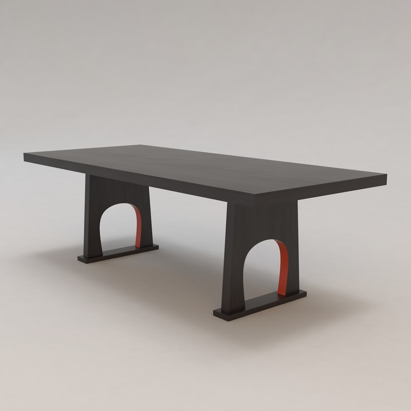 Cipangu Table Christian Liaigre 3d Model