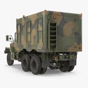 3d truck m109 shop van model
